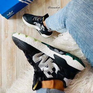 NWT Adidas nite jogger 3 M black running shoes
